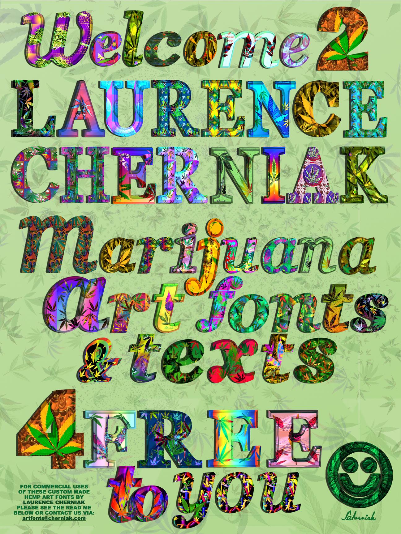 Marijuana art fonts free for artists or anyone else from and by marijuana art fonts free for artists or anyone else from and by laurence cherniak biocorpaavc Images